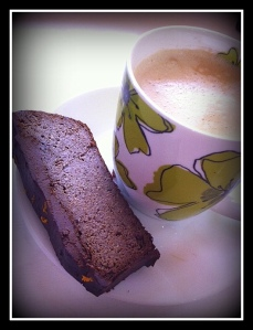 Chocolate Orange Almond slice and hazelnut latte-001