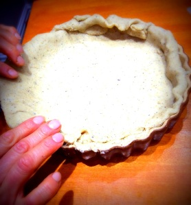 Pastry - moulding pastry to dish-001